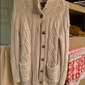 J Crew cableknit long sweater
